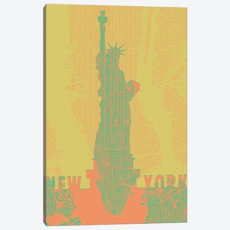 Statue Of Liberty NY Canvas Print #PUB67} by Planos Urbanos Canvas Art Print