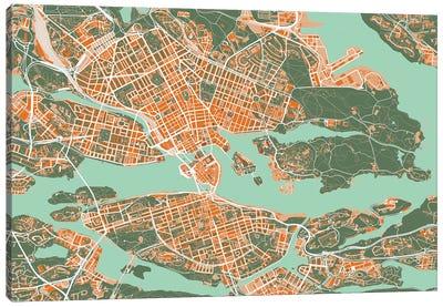 Stockholm Orange Canvas Art Print