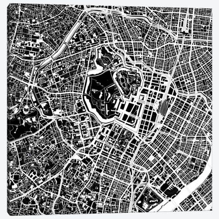 Tokyo Black And White Canvas Print #PUB69} by Planos Urbanos Canvas Art