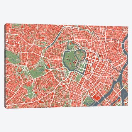 Tokyo Classic Canvas Print #PUB70} by Planos Urbanos Canvas Art Print
