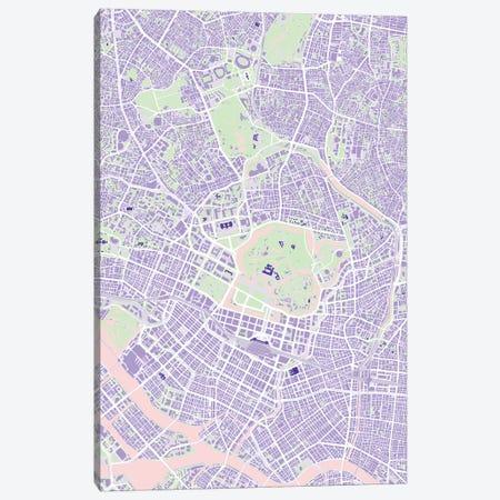 Tokyo Violet Canvas Print #PUB71} by Planos Urbanos Art Print