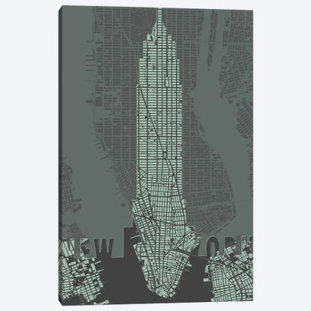 Windows Over Manhattan Canvas Print #PUB75} by Planos Urbanos Canvas Artwork