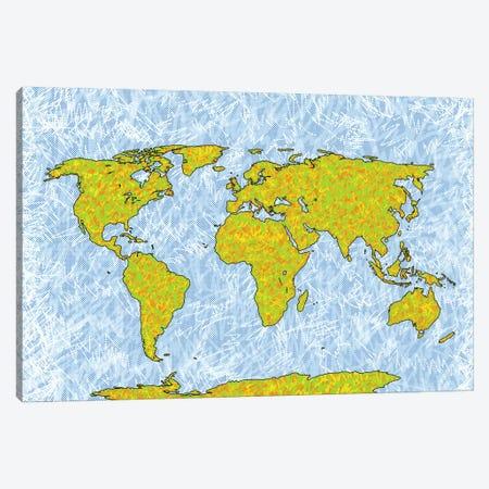 World Map Canvas Print #PUB76} by Planos Urbanos Canvas Wall Art