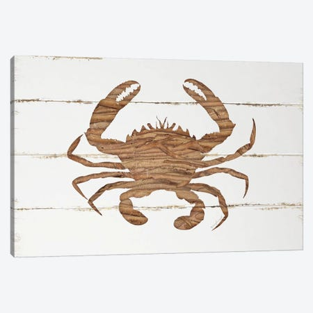 Driftwood Crab Canvas Print #PUG10} by Jennifer Pugh Canvas Artwork