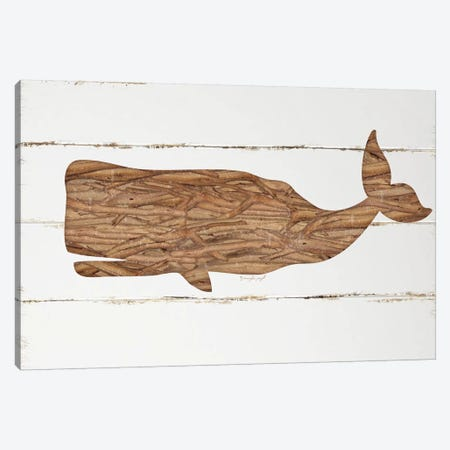 Driftwood Whale Canvas Print #PUG12} by Jennifer Pugh Canvas Wall Art