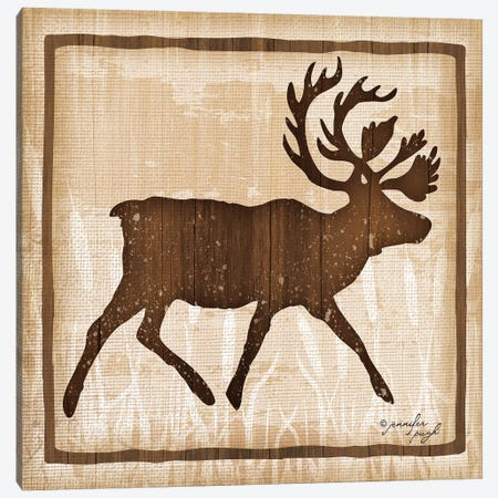 Elk Canvas Print #PUG14} by Jennifer Pugh Canvas Art Print