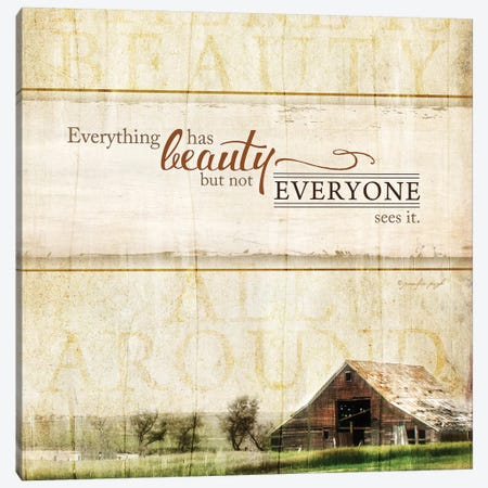 Everything Has Beauty Canvas Print #PUG15} by Jennifer Pugh Canvas Print
