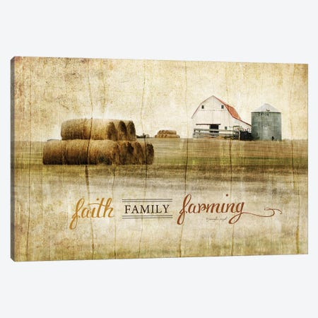 Faith, Family, Farming Canvas Print #PUG16} by Jennifer Pugh Art Print