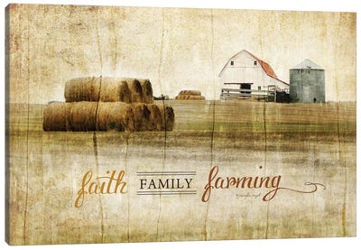 Faith, Family, Farming Canvas Art Print