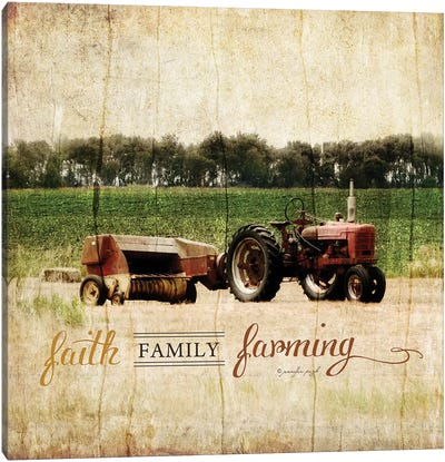 Faith, Family, Friends Canvas Art Print