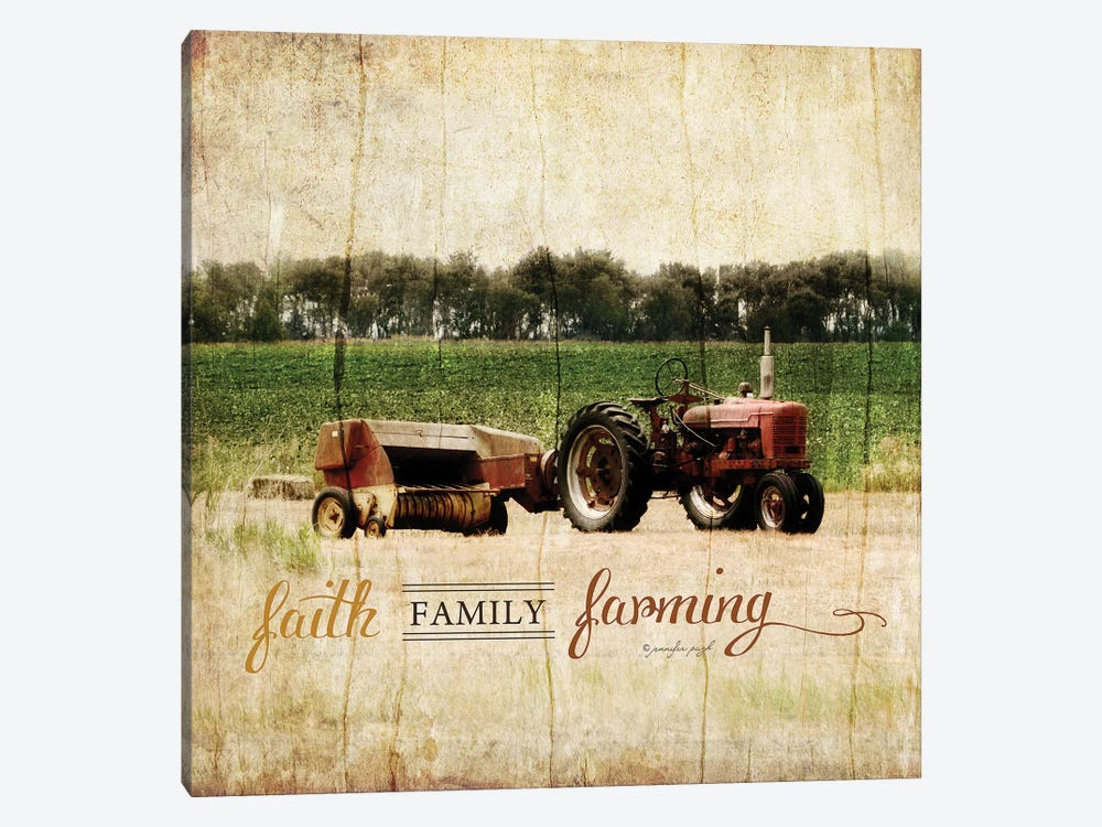 Faith, Family, Friends by Jennifer Pugh 1-piece Art Print