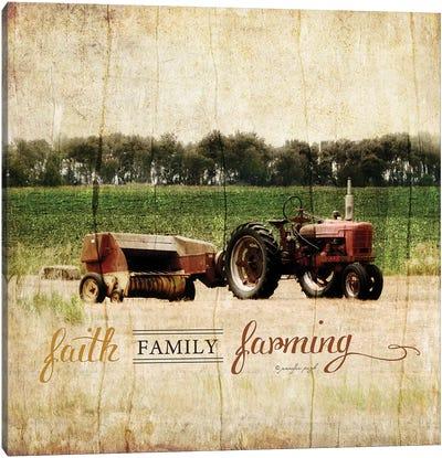 Faith, Family, Friends Canvas Art Print