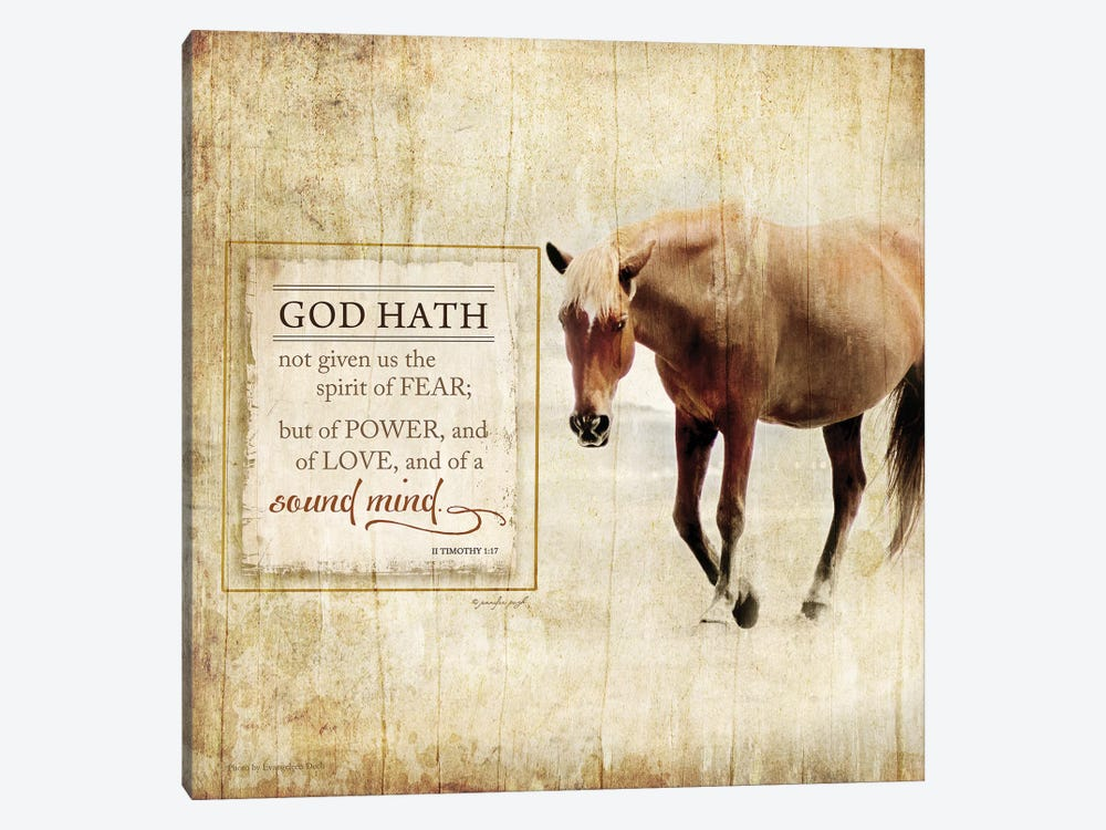 God Hath Not Given by Jennifer Pugh 1-piece Canvas Art Print