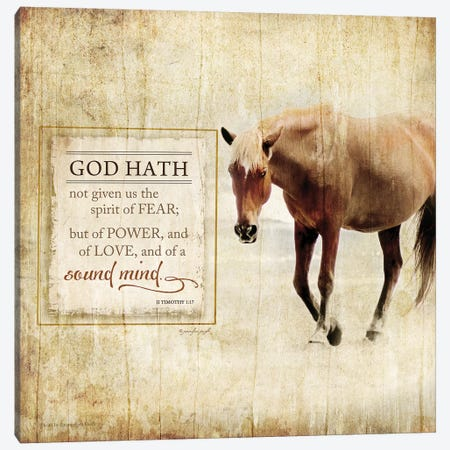 God Hath Not Given Canvas Print #PUG19} by Jennifer Pugh Canvas Artwork