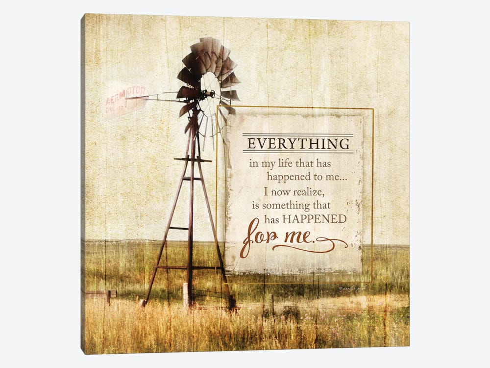 Happened For Me by Jennifer Pugh 1-piece Canvas Print