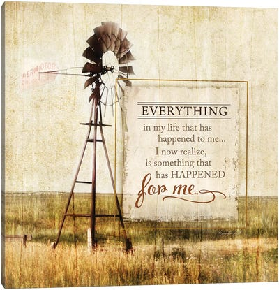 Happened For Me Canvas Art Print
