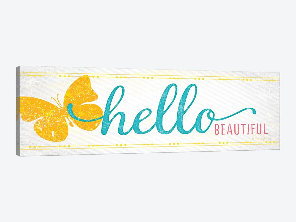 Hello by Jennifer Pugh 1-piece Canvas Artwork