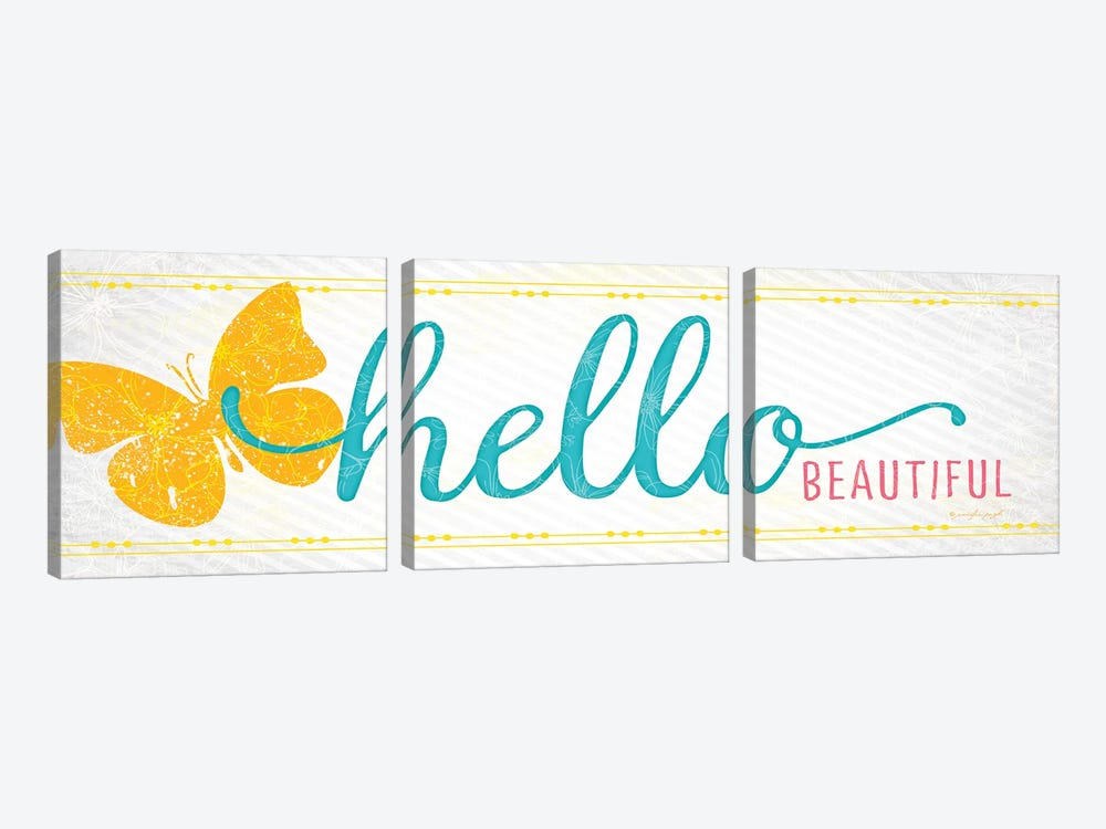 Hello by Jennifer Pugh 3-piece Canvas Artwork