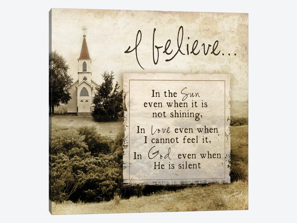 I Believe… by Jennifer Pugh 1-piece Canvas Artwork