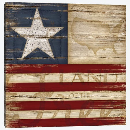 Land Of The Free Canvas Print #PUG27} by Jennifer Pugh Canvas Wall Art