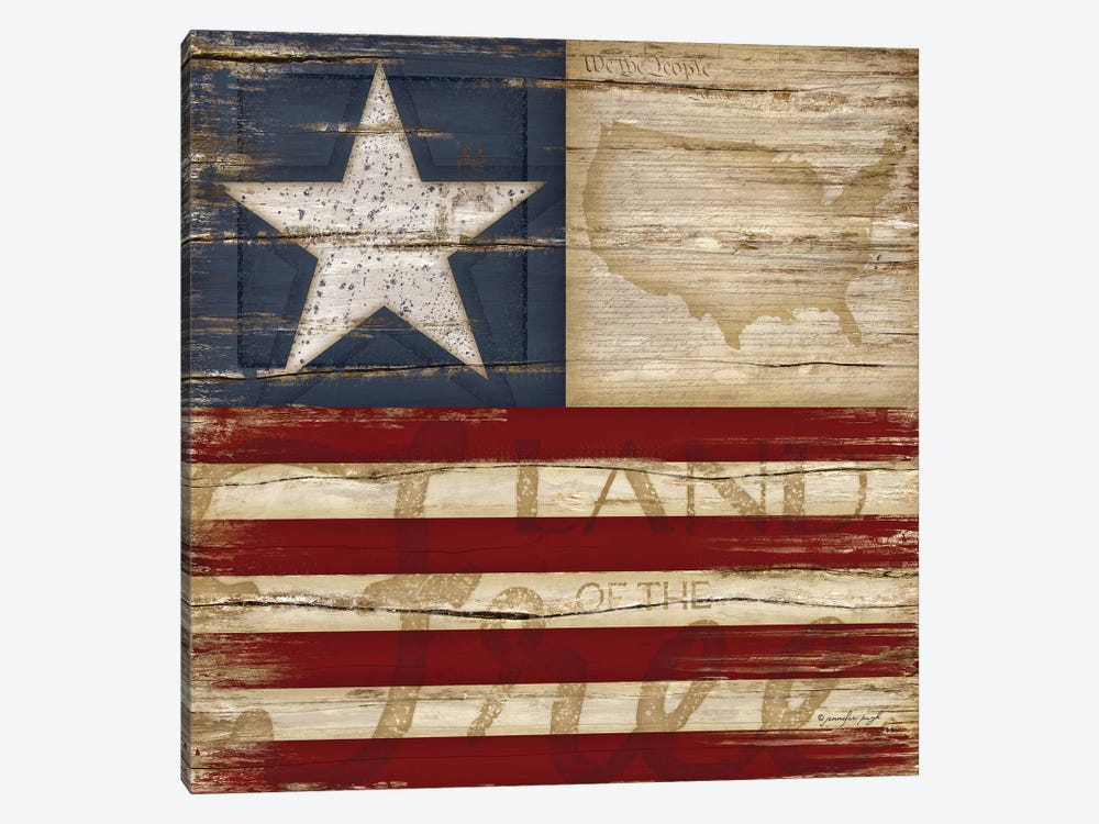 Land Of The Free by Jennifer Pugh 1-piece Canvas Wall Art