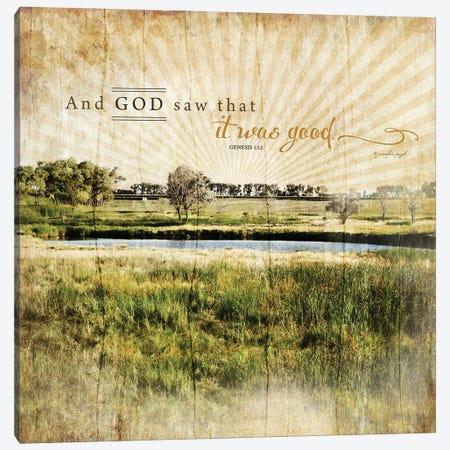 And God Saw That It Was Good Canvas Print #PUG2} by Jennifer Pugh Canvas Art