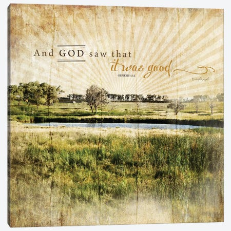 And God Saw That It Was Good Canvas Print #PUG2} by Jennifer Pugh Canvas Art