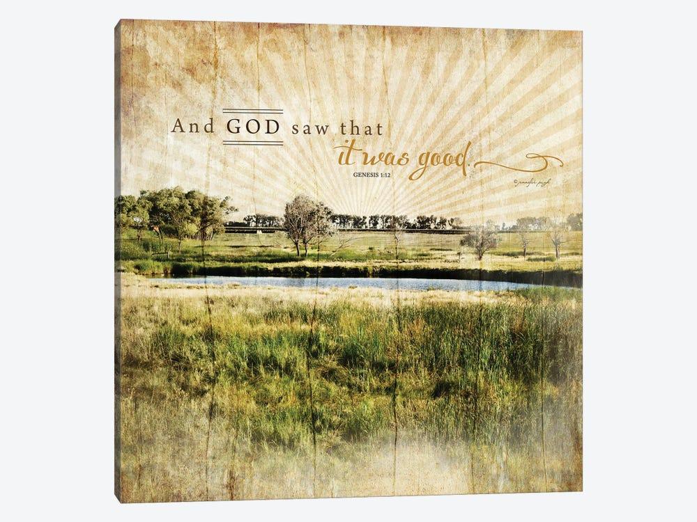 And God Saw That It Was Good by Jennifer Pugh 1-piece Art Print