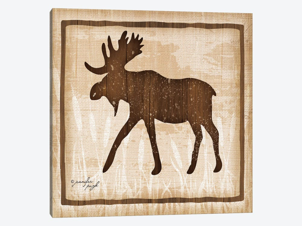 Moose by Jennifer Pugh 1-piece Canvas Artwork