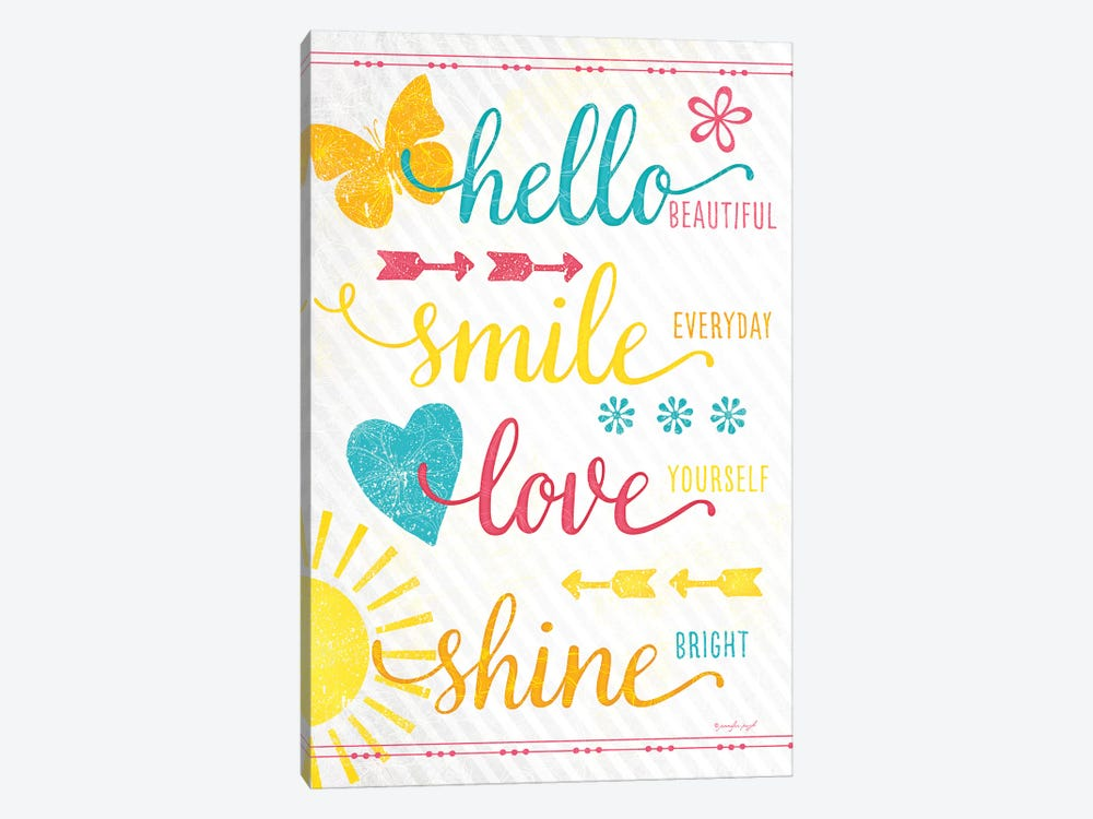Shine Bright by Jennifer Pugh 1-piece Canvas Art Print
