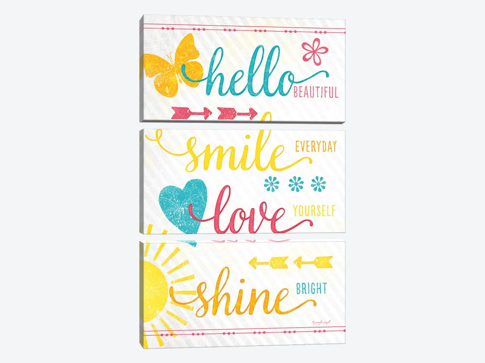 Shine Bright by Jennifer Pugh 3-piece Canvas Print