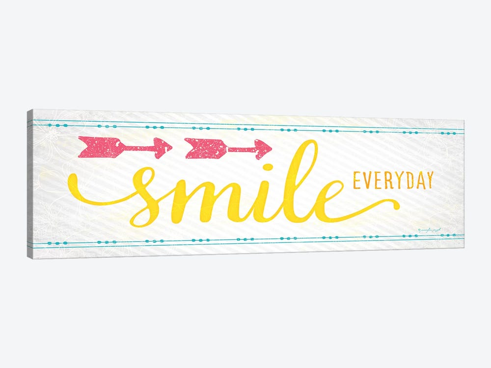 Smile by Jennifer Pugh 1-piece Canvas Art Print
