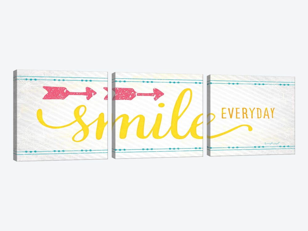 Smile by Jennifer Pugh 3-piece Art Print