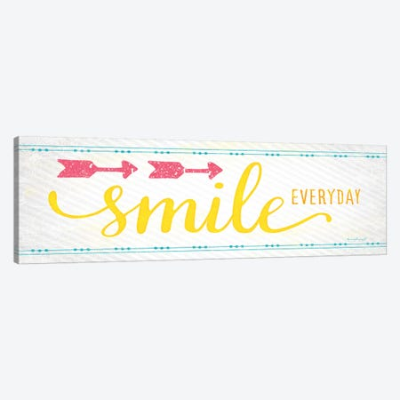 Smile 3-Piece Canvas #PUG35} by Jennifer Pugh Art Print