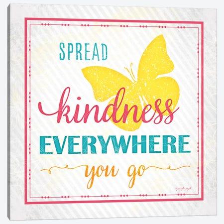 Spread Kindness Canvas Print #PUG36} by Jennifer Pugh Canvas Print