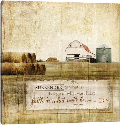 Surrender To What Is Canvas Art Print