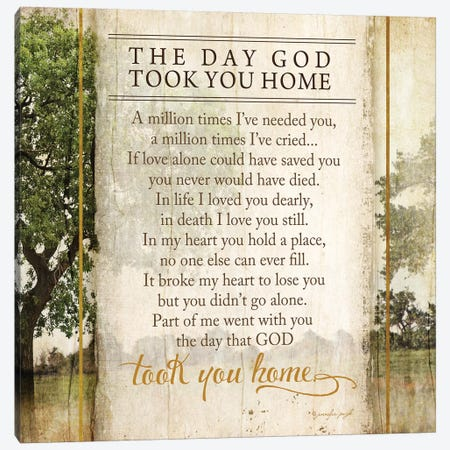 The Day God Took You Home Canvas Print #PUG38} by Jennifer Pugh Canvas Wall Art