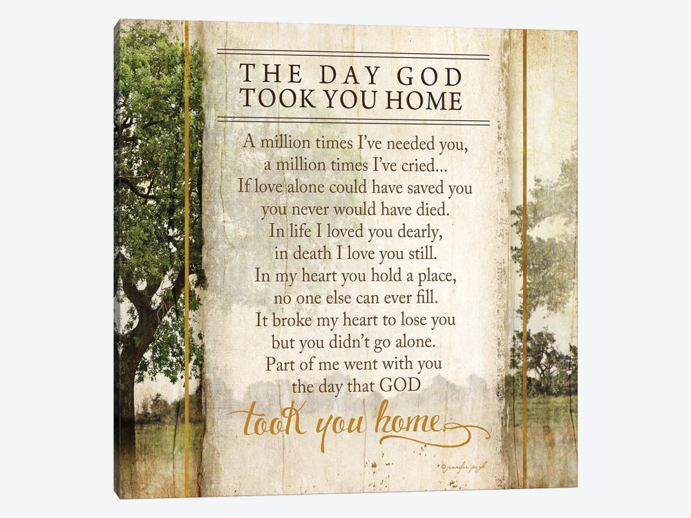 The Day God Took You Home by Jennifer Pugh 1-piece Canvas Artwork
