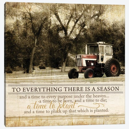 To Everything There Is A Season Canvas Print #PUG41} by Jennifer Pugh Art Print