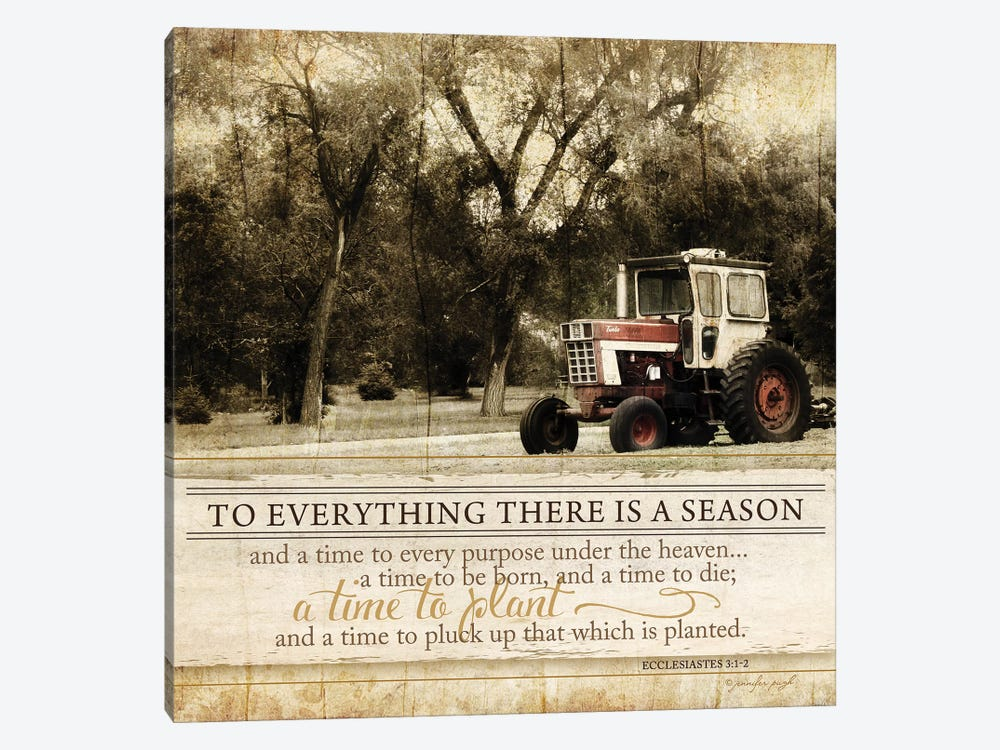 To Everything There Is A Season by Jennifer Pugh 1-piece Canvas Art