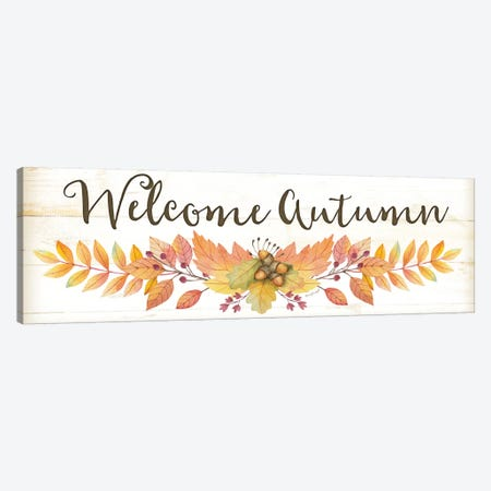 Welcome Autumn Canvas Print #PUG43} by Jennifer Pugh Canvas Art Print