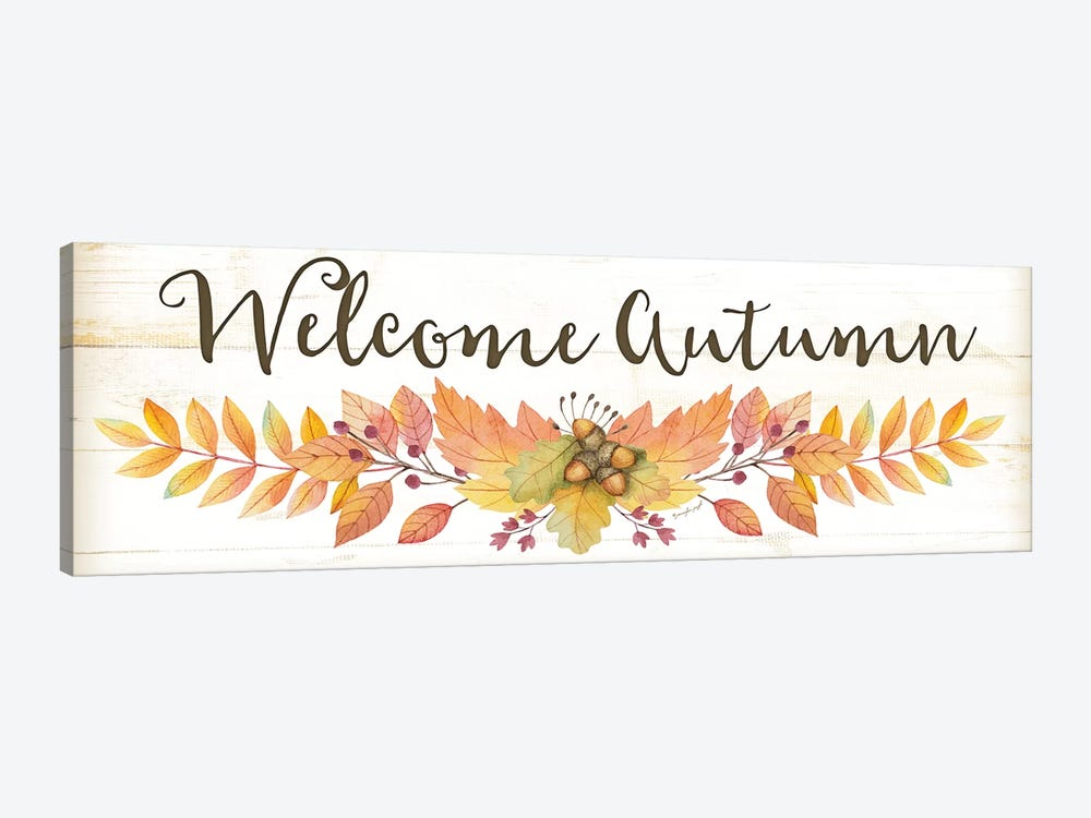 Welcome Autumn by Jennifer Pugh 1-piece Canvas Wall Art