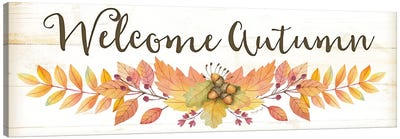 Welcome Autumn Canvas Art Print