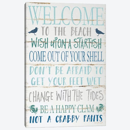 Welcome To The Beach Canvas Print #PUG44} by Jennifer Pugh Canvas Artwork
