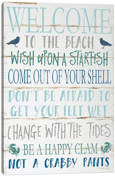Welcome To The Beach Canvas Art Print