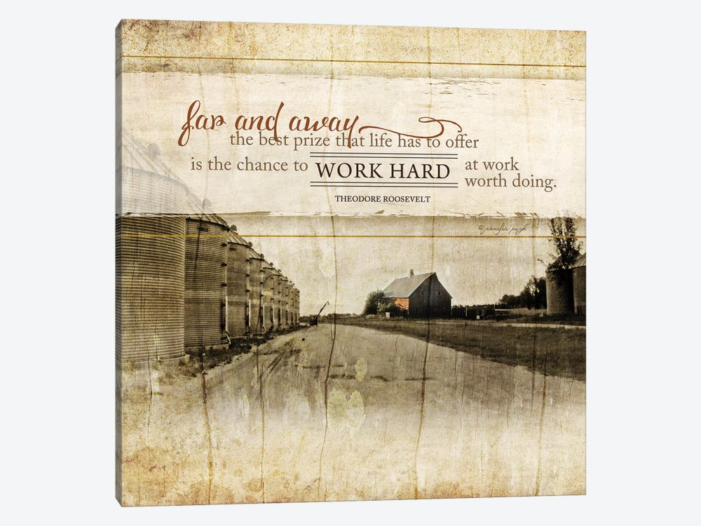 Work Hard by Jennifer Pugh 1-piece Canvas Wall Art