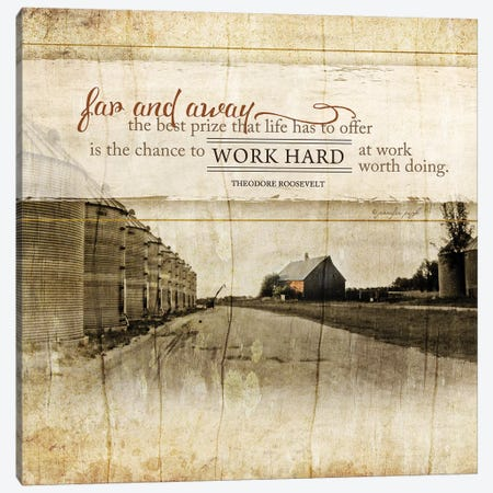 Work Hard Canvas Print #PUG45} by Jennifer Pugh Canvas Art