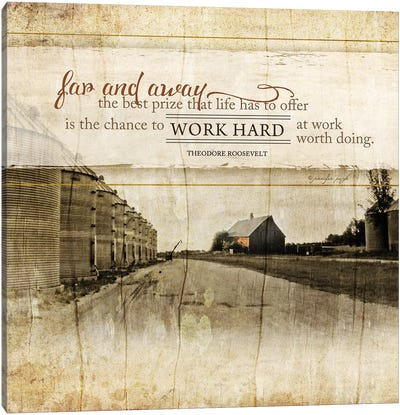 Work Hard Canvas Art Print