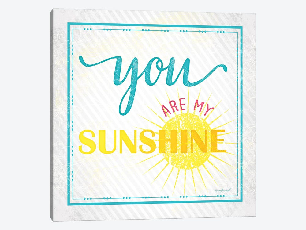 You Are My Sunshine by Jennifer Pugh 1-piece Canvas Print