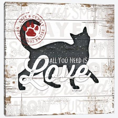 All You Need Is Love - Cat Canvas Print #PUG48} by Jennifer Pugh Art Print